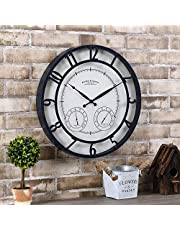 """FirsTime & Co. Park Outdoor Wall Clock, 18"""", Oil Rubbed Bronze"""