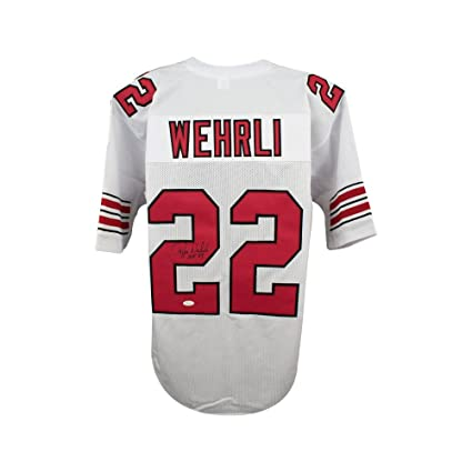 5b44c85c693d Image Unavailable. Image not available for. Color  Roger Wehrli HOF  Autographed Arizona Cardinals Custom White Football Jersey ...