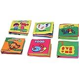 Goolsky Coolplay Bébé Tissu Non Toxique Livre 6Pcs Chiffon Lavable Livre Éducation Précoce Intelligent de Jouets pour Enfants de l'Infant Toddler Apprentissage