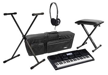 Casio CTK-1100 6200 Juego de Deluxe de teclado con soporte, banco, auriculares