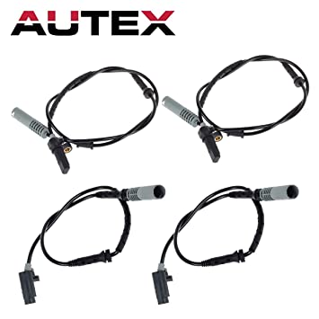 Set of 4 MOSTPLUS 34521182076 34521182077 Front Rear Wheel ABS SPeed Sensors For 1995-1998 BMW 740i 740iL 750iL