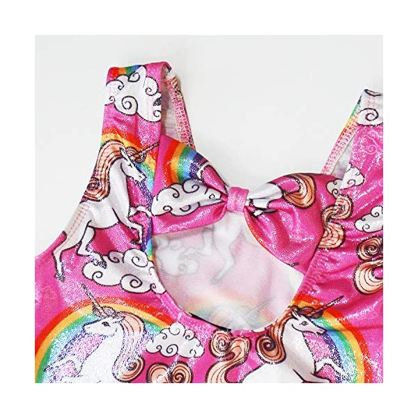 Gymnastics Leotards for Girls Sparkly Unicorn Outfits Activewear Quick Dry 7