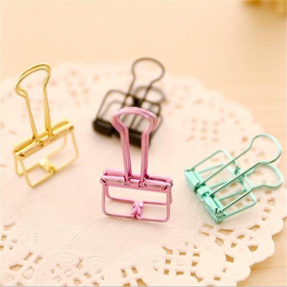 Interesting® Metal Wire Retro Hollow clips de fotos Paper Binder Clips Organizador para Oficina (color al azar)