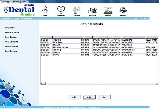 Dental Hospital Plus software system