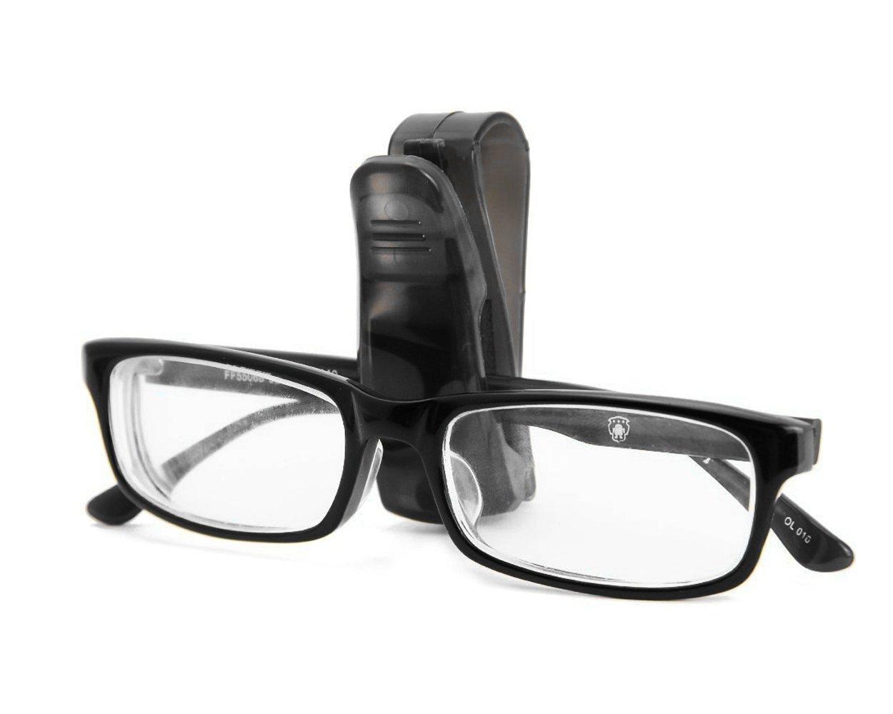 SCSpecial Auto Brillen Halterung 2/Pcs Sonnenblende Clip Sonnenbrille Clip f/ür Auto/ /Schwarz