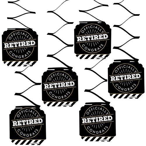 Big Dot of Happiness Happy Retirement - Retirement Party Hanging Decorations - 6 Count -