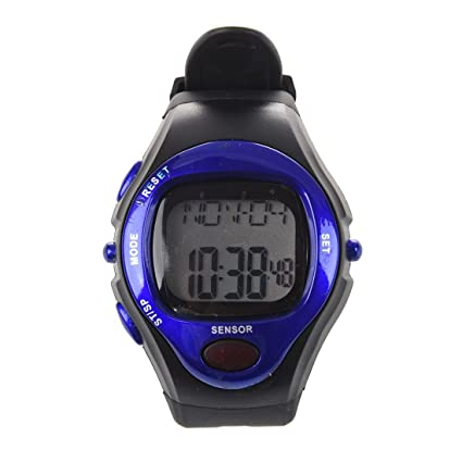 SODIAL(R) Pulsometro Cronometro Contador de Calorias Ritmo y Cardiaco LCD