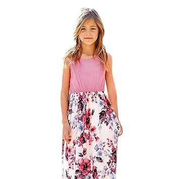 pretty nice ad538 da41b Mädchen Kinderkleidung,Beikoard🎈Kindertag Geschenk🎈Mode Kleinkind Baby  Mädchen Kind Blumendruck Prinzessin Party Kleid Outfits Kleidung ...