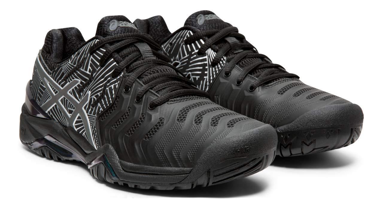 ASICS Gel-Resolution 7 Women's Tennis Shoe, Black/Silver, 10.5 M US by ASICS