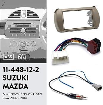 Adaptateur pour Autoradio GPS Navigateur St/ér/éo De Voiture Adaptateur dantenne Radio pour Honda Fit Jazz 2002-2008 UGAR 11-385 Kit Double dinstallation de Tableau de Bord Radio DIN
