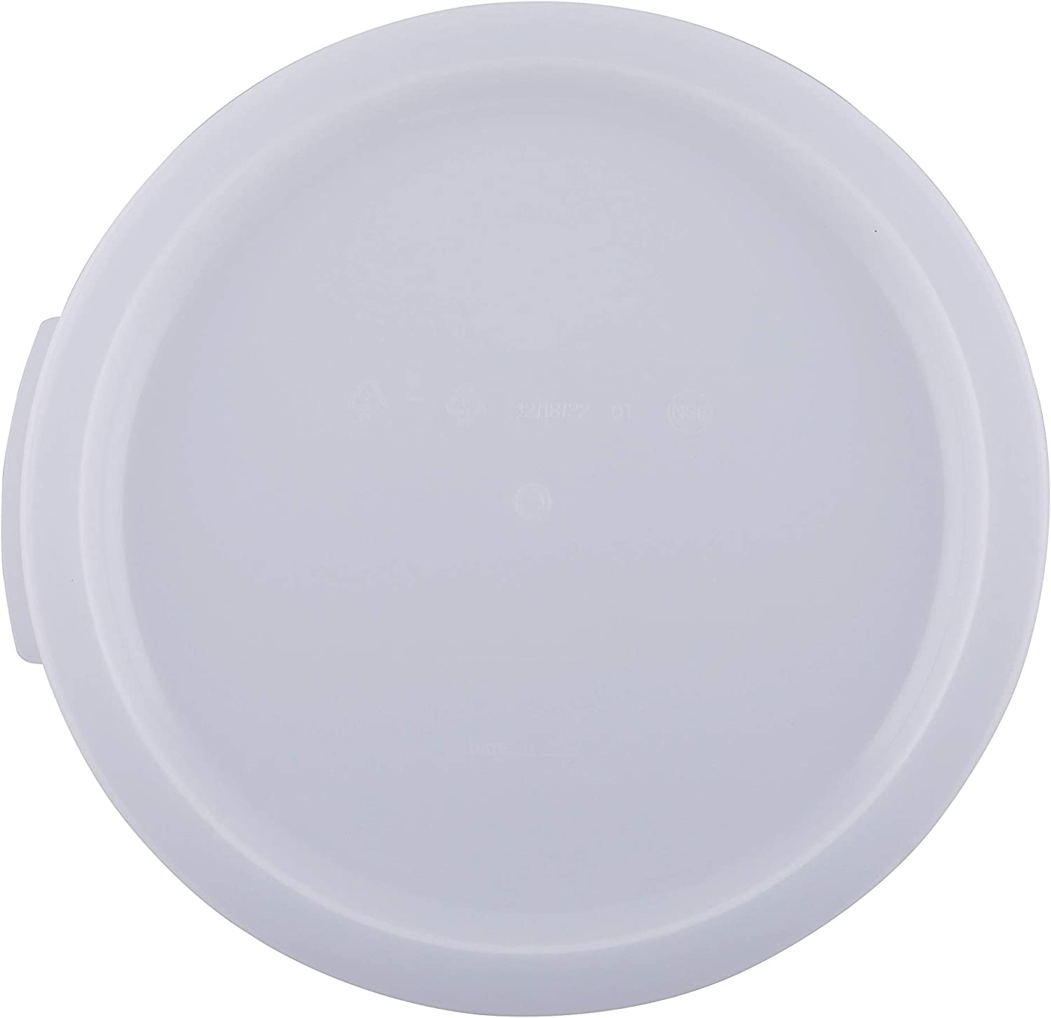 Caspian 12,18 and 22 QT Clear Round Polycarbonate Food Storage Box Container Lid, 1 Piece (12?18?22QT Lid)