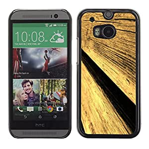 Paccase / SLIM PC / Aliminium Casa Carcasa Funda Case Cover para - Popular Wood Wall Fence Design Architecture Material Art - HTC One M8
