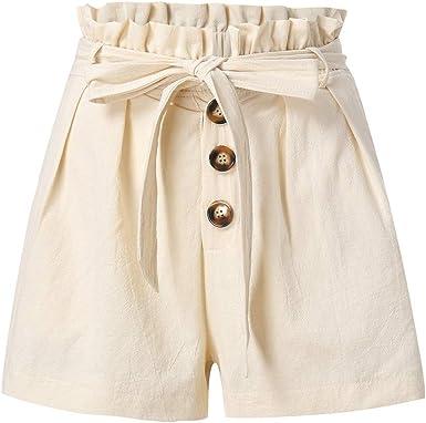 FELZ Pantalones Cortos para Mujer Pantalones Cortos de Playa de ...