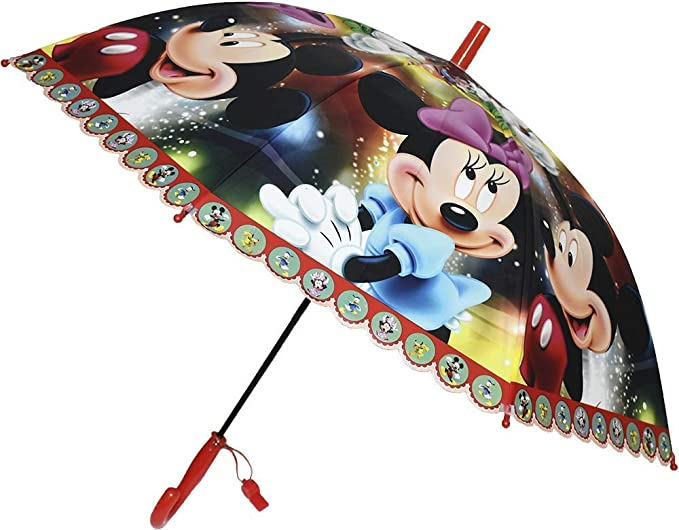 Minnie Mickey Mouse Umbrella for Boys and Girls / Cartoon Print Umbrella for Children / Umbrella for Girls / Cartoon Handle Special Design for Children Umbrella