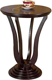 Perfect Frenchi Home Furnishing Round End Table, Espresso