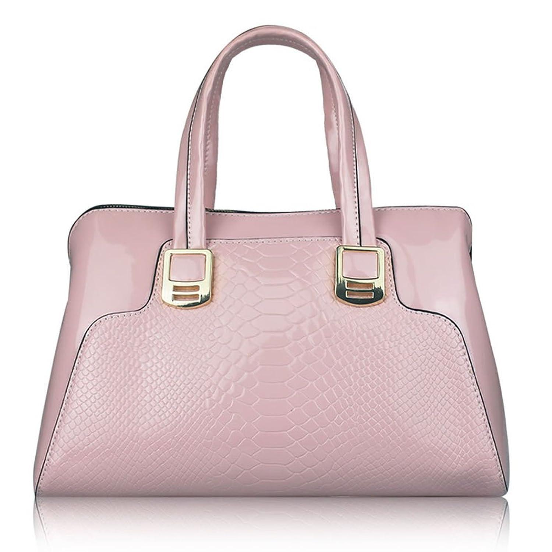 Ginma Handbag for Women Leather Snakeskin stripe Shoulder Bag