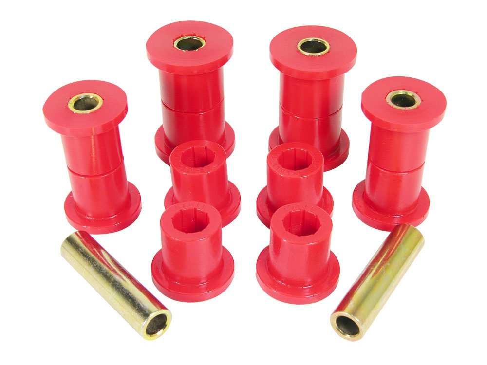 Prothane 1-1005 Red Front Spring Eye and Shackle Bushing Kit for CJ5, CJ6, CJ7, CJ8 and YJ by Prothane