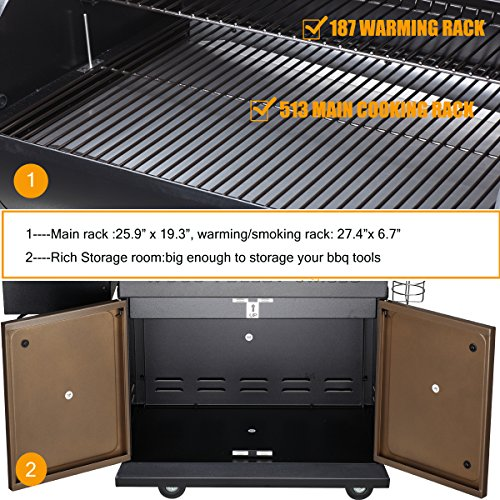 Z Grills Grill Smoker Patio Area 7 1- Grill, and BBQ with Digital Controls Outdoor