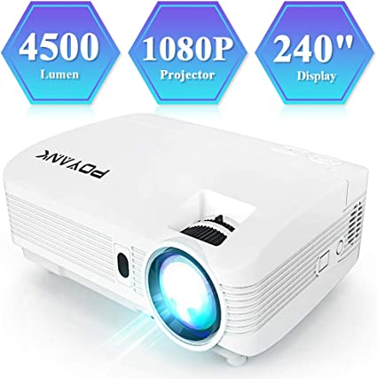 Mini USB LED 1080P HD Projektor Home Theater Multimedia HDMI AV Video Schwarz DE