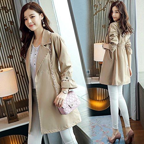 SCOATWWH Windbreaker Coats nbsp;Female Long Women'S Women'S Female Jackets Khaki Load amp; Low Jacket A5AqFxgrzn
