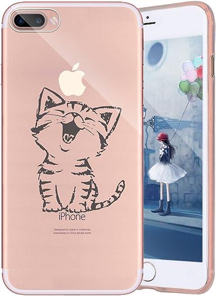 cover iphone 7 gatto silicone