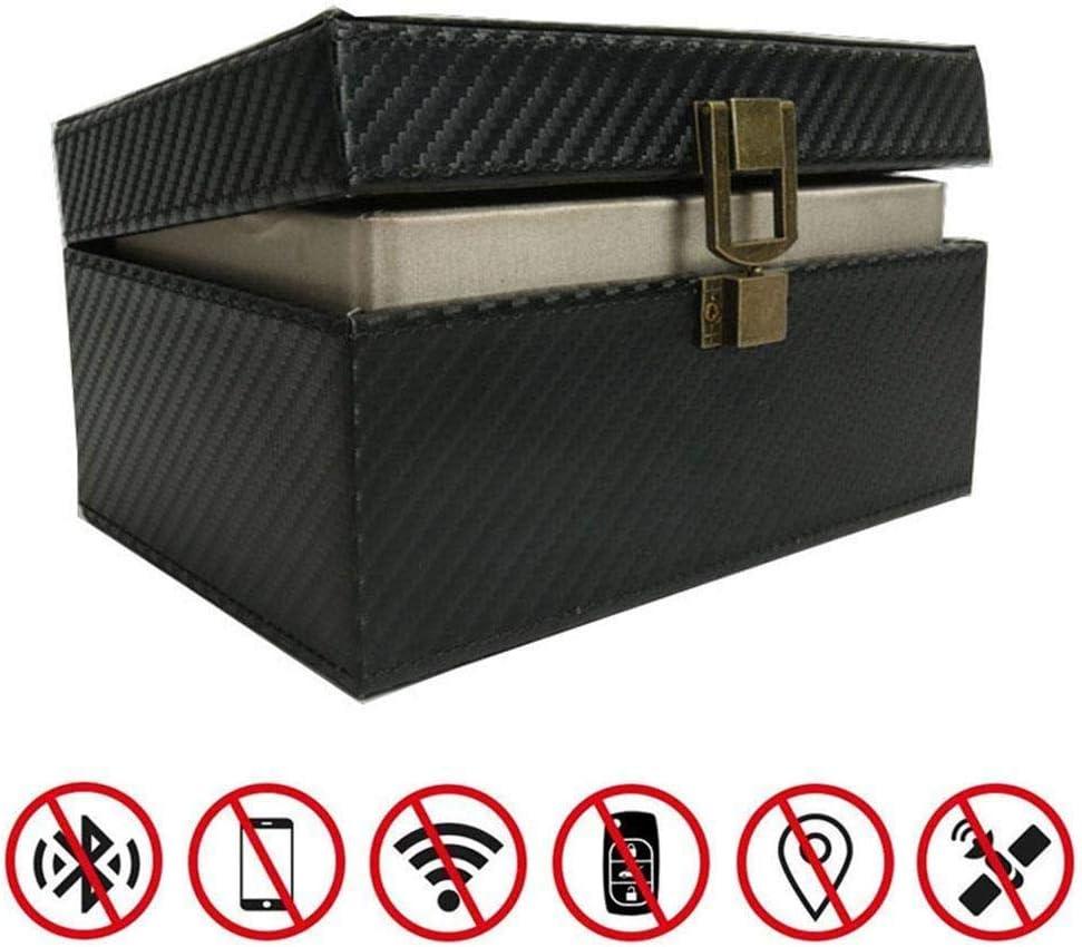 Ying-feirt Bolsa de la Caja de Bloqueo de la señal de la Llave del Coche, Caja del Bloqueador RFID de Faraday Box, Coches sin Llave Caja de Almacenamiento Grande antirrobo: Amazon.es: Coche