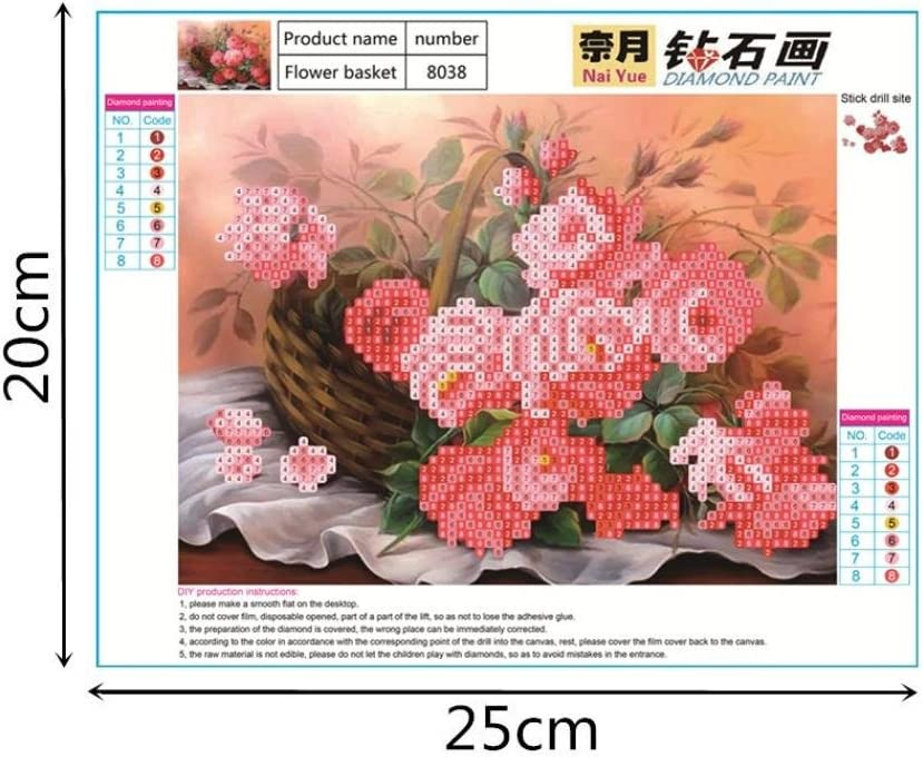 A Iuhan 5D Diamond Embroidery Painting 5D Embroidery Paintings Rhinestone Pasted DIY Diamond Painting Cross Stitch