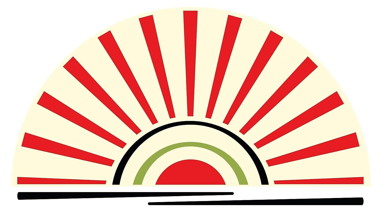 Wandtattoo Asien Sonnenuntergang im Retro Look Wandsticker Wanddeko Wohnzimmer