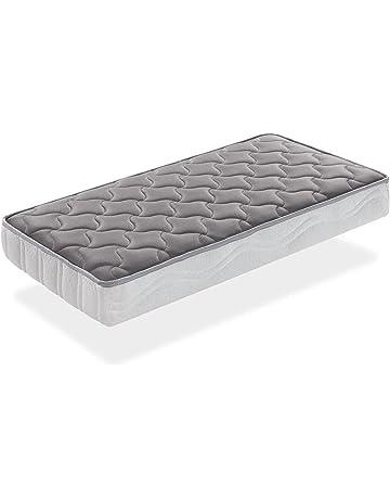 SLEEPAA Colchón de cuna FIBRA DE COCO natural y MUELLES 120x60 cm antiácaros transpirable Altura 15