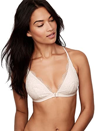 863e229c6bb Victoria s Secret Front-Close Bralette Crochet Lace White Coconut at ...