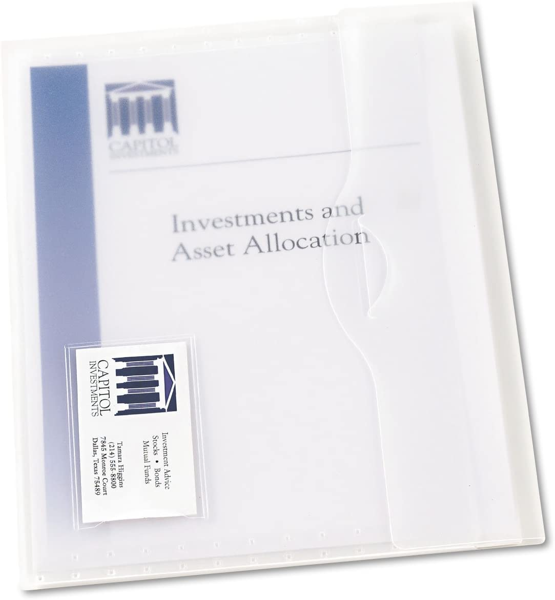 AVERY Translucent Document Wallet, Clear Travel Document Organizer, Holds Up to 50 Pages, 12 Wallets (72278)