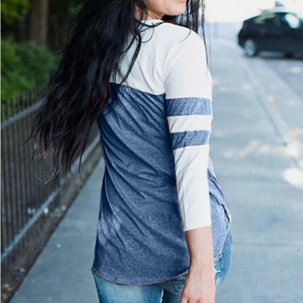 5364f747a6 Tkiames Mujeres Camisetas Manga Larga Blusas de Encaje Flores Lace ...