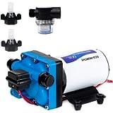 DC HOUSE 42-Series Upgrade Water Diaphragm Pressure Pump, 5.0 GPM 55 PSI 12V DC Self Priming Water Pump for RV Caravan…