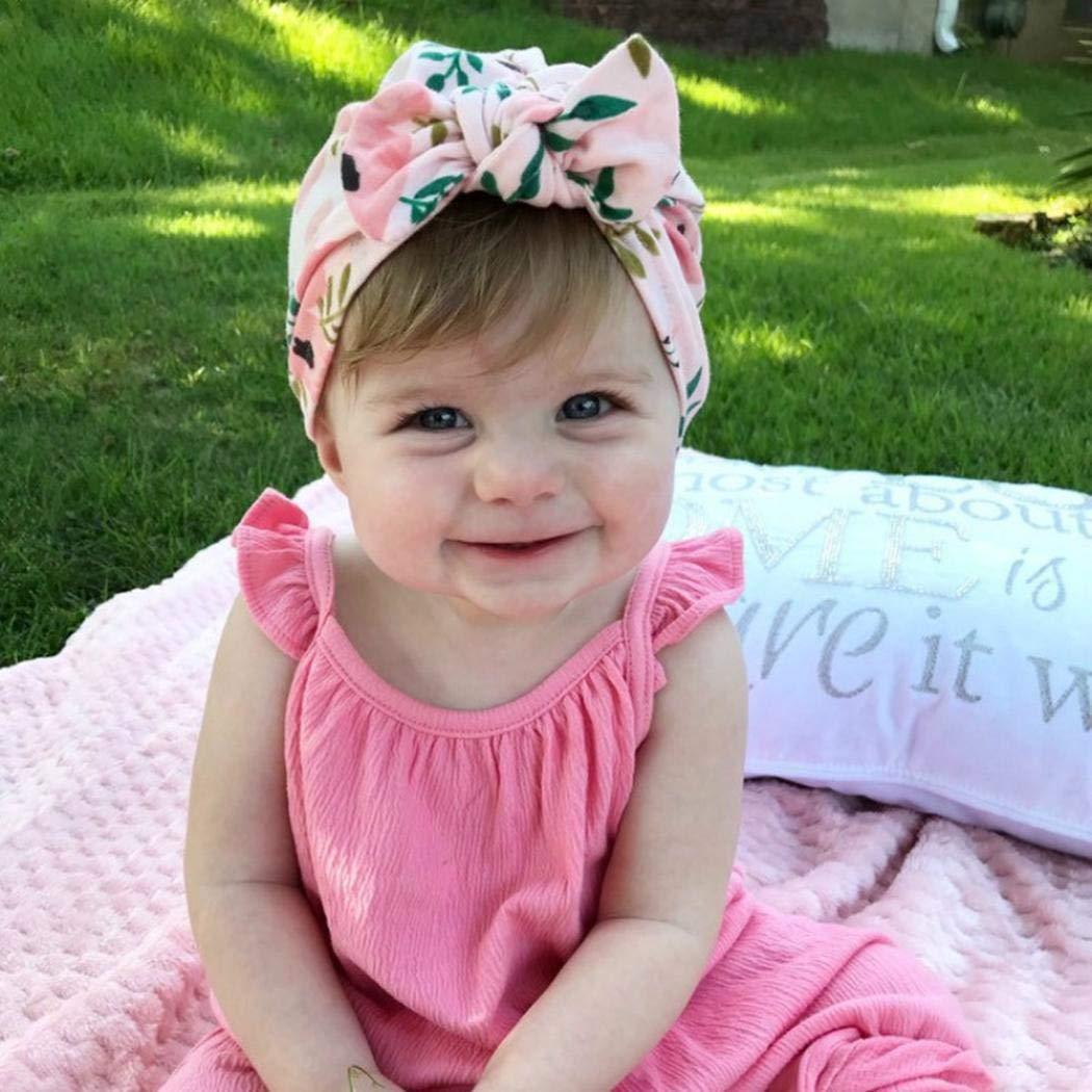 kirken Newborn Baby Boy Girl Bowknot Cap Head Wrap Headwear Toddler Photo Props Headband