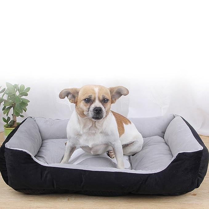 DS alfombra para mascotas Perro pequeño Tamaño mediano Alfombra para perros grande Perrera Cuatro estaciones Lobos para mascotas Suministros para perros ...