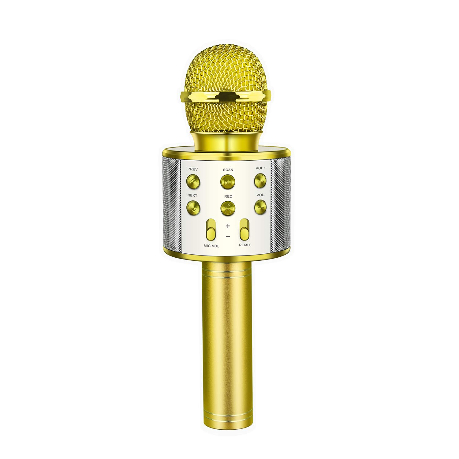 Best Gifts for Girls Age 5-14, Karaoke Microphone Bluetooth Wireless for Kids Adults Popular Fun Toys for 5-15 Year Old Boys Girls Gold OM02 by OPO