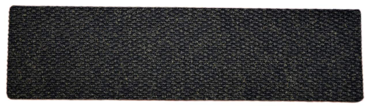Dean Indoor/Outdoor Non Skid Carpet Stair Treads - Black - 36'' x 9'' (Set of 3)