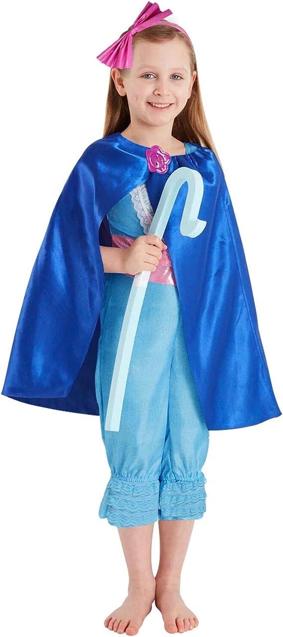 HOMELEX Bo-Peep Shepherdess Costume Suit Halloween Cosplay Bodysuit for Kids Girls Party Jumpsuit