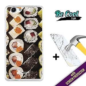 Becool® Fun- Funda Gel Flexible para Wiko Pulp FAB [ +1 Protector Cristal Vidrio Templado ]Carcasa TPU fabricada con la mejor Silicona, protege y se adapta a la perfección a tu Smartphone y con nuestro exclusivo diseño Me gusta el sushi