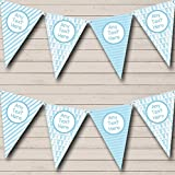 Party Banner Bunting Blue Grows and Balloons Boy Welcome Home New Baby