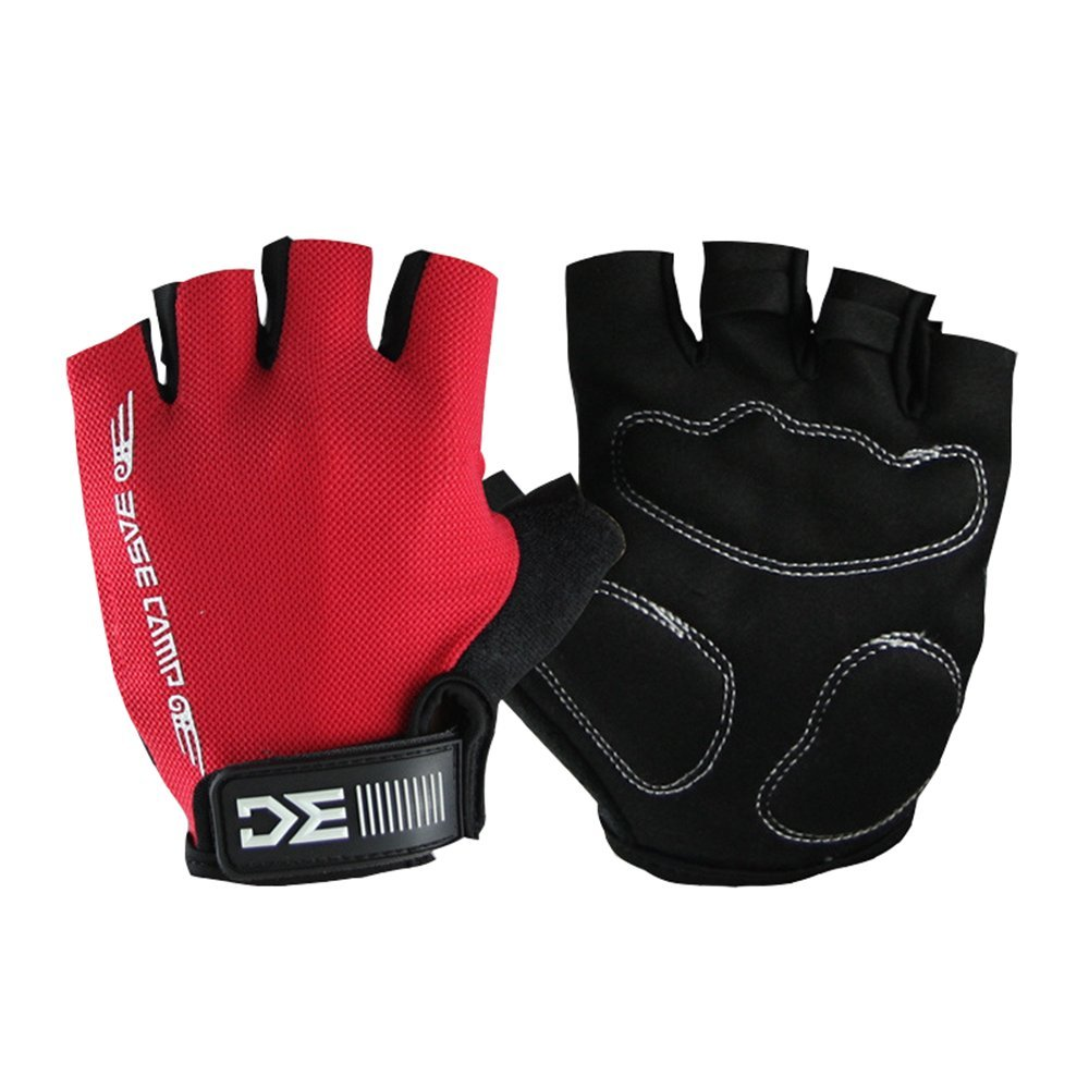 Unisex Anti-slip Gel Pad Cycling Gloves Half Finger Breathable Bicycle Bike Gloves for Riding Road Racing Physical Training Elveest