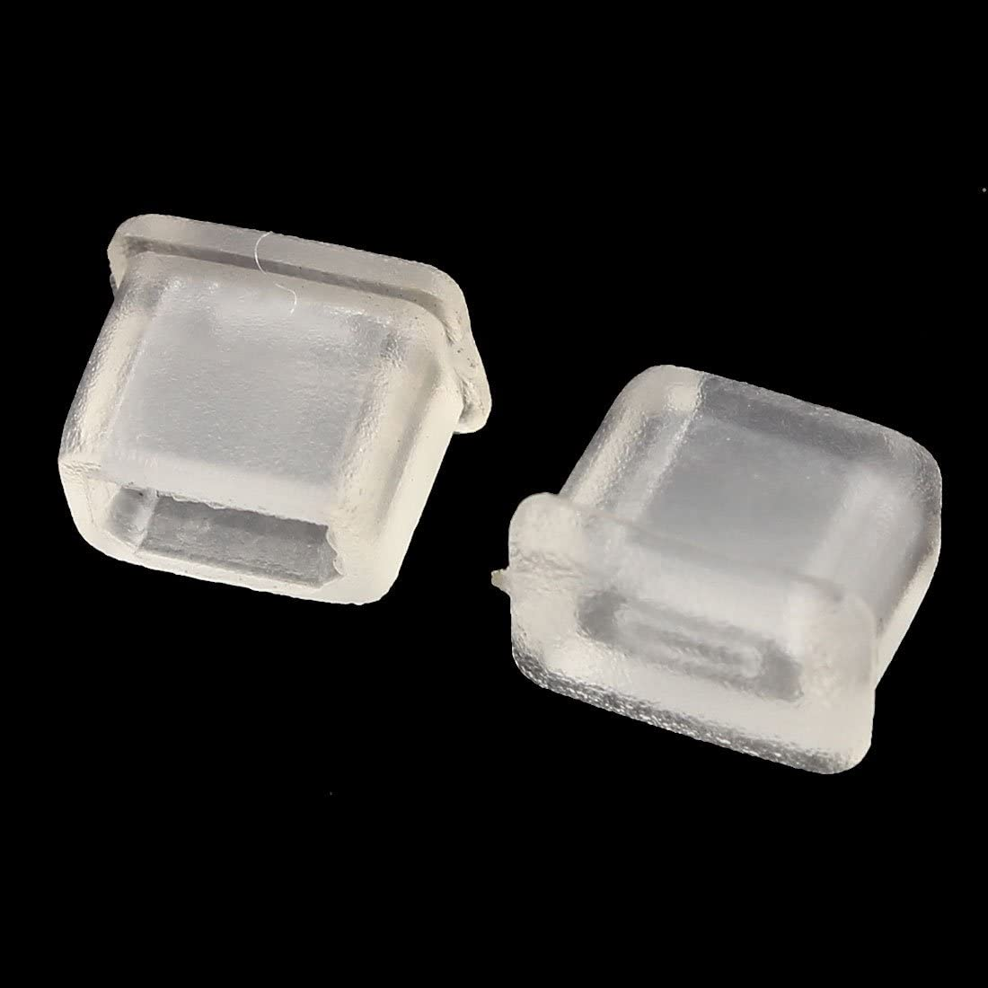 uxcell 10 Pcs Clear Silicone Dust Protector for Micro HDMI Male Port
