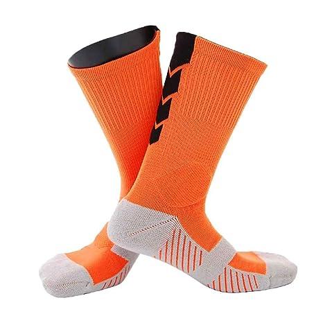 Republe 1 par Masculino Deportes al Aire Libre de Baloncesto Inferior Grueso Calcetines Hombres Maratón de