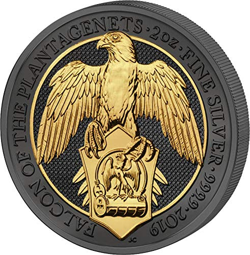 Power Coin Falcon Queen Beasts Habicht Golden Enigma 2 Oz Silber Münze 5£ United Kingdom 2019