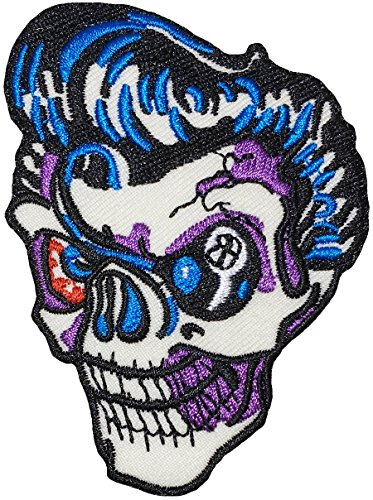 The Skull Of Elvis Size3 5X2 25Inch Biker Heavy Metal Horror Goth Punk Emo Rock Logo Jacket Vest Shirt Hat Blanket Backpack T Shirt Patches Embroidered Appliques Symbol Badge Cloth Sign Costume Gift