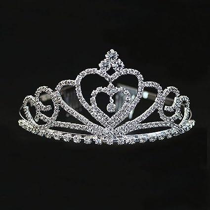 QJXSAN Headwear Nupcial Princess Crown Headdress Accesorios de taladro de agua Joyería para niños Diadema Rhinestone