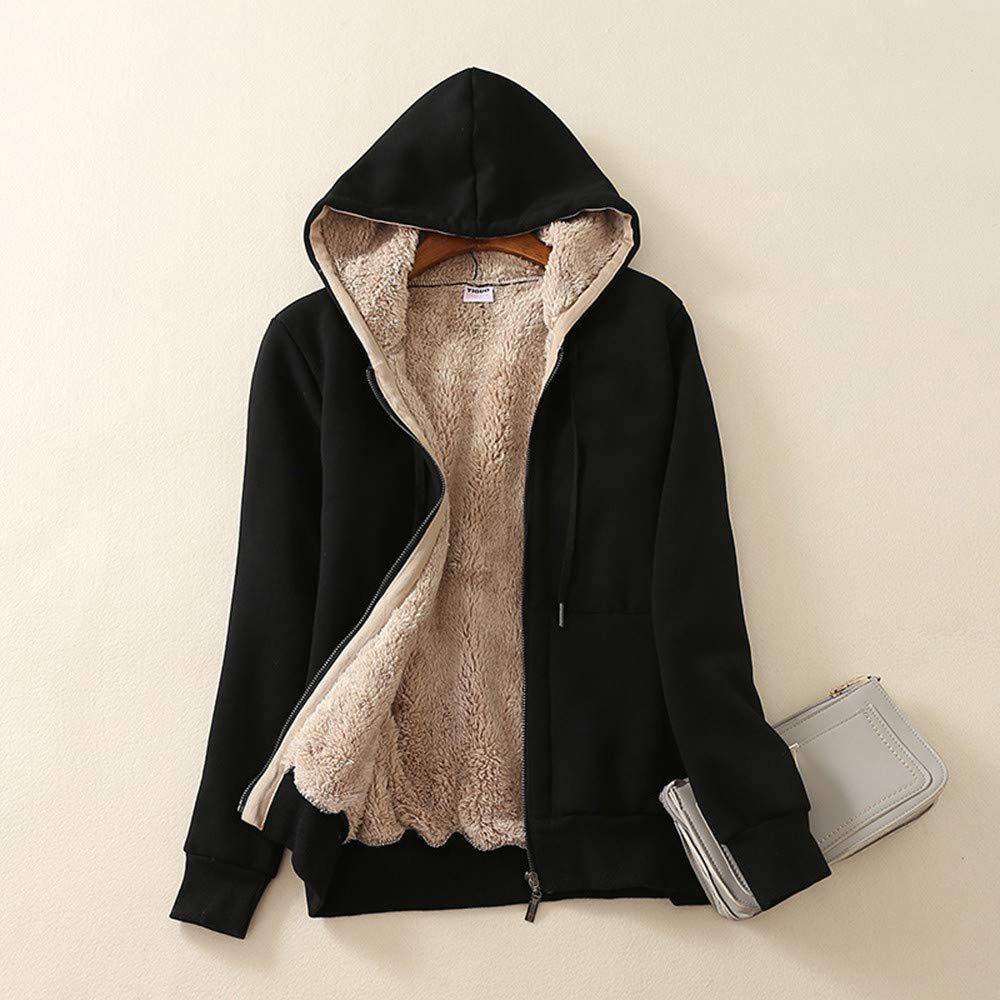 Amazon.com: Womens Winter Sherpa Lined Zip Up Coat Hooded Sweatshirt Jacket Coat Outwear Blouse Overalls Overcoats: Arts, Crafts & Sewing