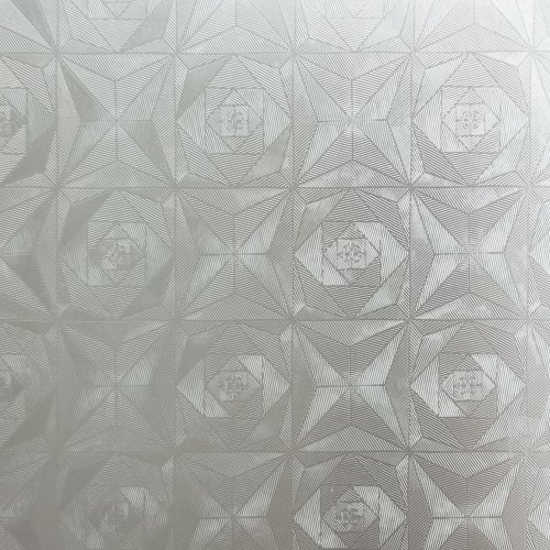 Mirage Rose - Self-Adhesive Embossed Window Film Home Decor(Sample)