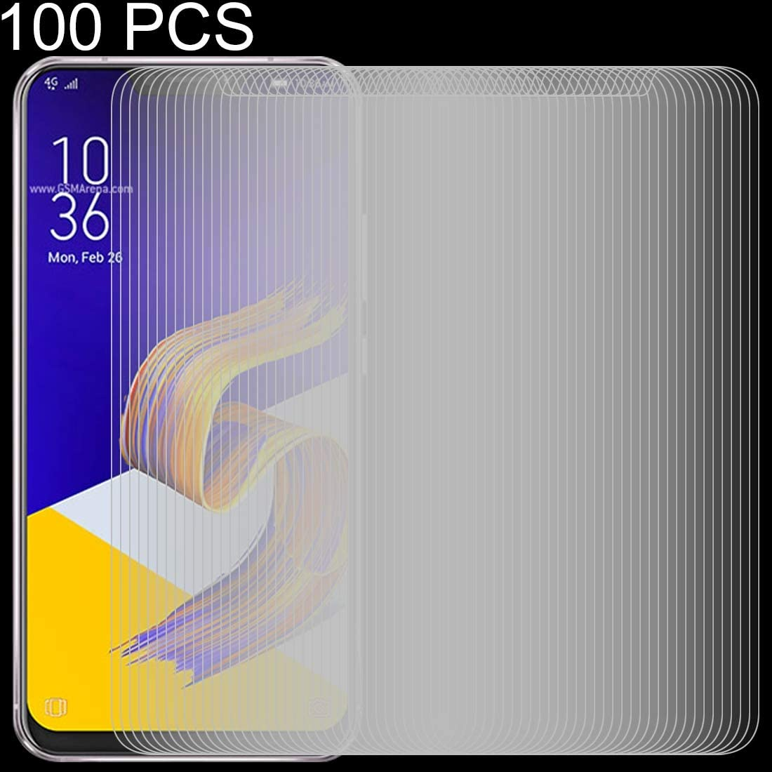 100 PCS 0.26mm 9H 2.5D Tempered Glass Film for Asus Zenfone 5z ZS620KL Clear YINZHI Screen Protector Film