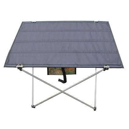 Amazon.com: ZHESHEN Mesa plegable portátil de aluminio ...